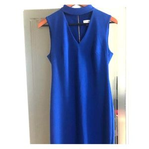 Gorgeous Blue Calvin Klein Workwear Dress A line